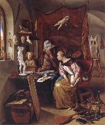 Jan Steen The During Lesson oil painting picture wholesale