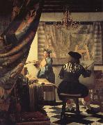 Jan Vermeer Die Malkunst oil painting picture wholesale