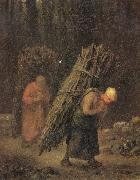 Jean Francois Millet Peasant Women Carrying Faggots oil painting picture wholesale