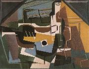 Juan Gris Guitar winebottle and cup oil painting picture wholesale