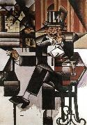Juan Gris The man at the coffee room oil painting picture wholesale