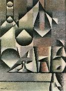 Juan Gris Bottle and water bottle oil painting picture wholesale