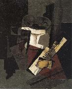 Juan Gris The still life having newspaper oil painting picture wholesale