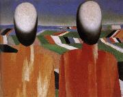 Kasimir Malevich Two Peasants oil painting picture wholesale