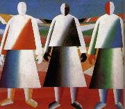 Kasimir Malevich Women in the farm oil painting picture wholesale