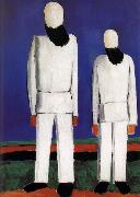 Kasimir Malevich Two men portrait oil painting picture wholesale