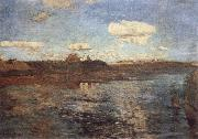 Levitan, Isaak Lake oil painting artist
