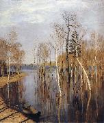 Levitan, Isaak Spring-inundation oil painting picture wholesale