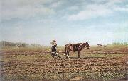Mikhail Klodt In the Ploughed Field oil painting artist
