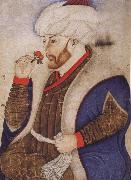 Naqqash Sinan Bey Portrait of the Ottoman sultan Mehmed the Conqueror oil painting artist