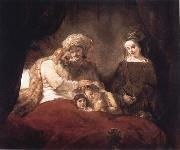 REMBRANDT Harmenszoon van Rijn Jacob Blessing the Sons of Joseph oil painting reproduction
