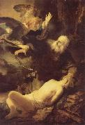 REMBRANDT Harmenszoon van Rijn The Angel Stopping Abraham from Sacrificing Isaac to God oil painting picture wholesale