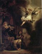 REMBRANDT Harmenszoon van Rijn The Archangel Raphael Taking Leave of the Tobit Family oil painting picture wholesale