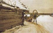 Valentin Serov In Winter oil painting artist