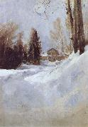 Valentin Serov Winter in Abramtsevo-A House oil painting artist