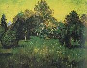 Vincent Van Gogh Public Park with Weeping Willow :The Poet's Garden i (nn04) oil painting picture wholesale