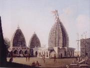 unknow artist A Group of Temples at Deogarh,Santal Parganas Bihar oil painting picture wholesale