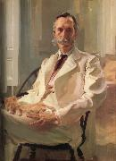 Cecilia Beaux Man with a Cat oil