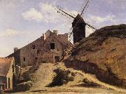 Corot Camille The Moulin of the Calette in Montmartre oil painting picture wholesale