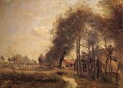 Corot Camille The road of Without-him-Noble oil painting picture wholesale