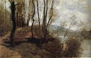 Corot Camille Path on the Rlo oil painting picture wholesale