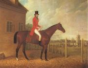 David Dalby Lord Bolton on a Bay Hunter oil painting artist