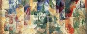 Delaunay, Robert The three landscape of Window oil
