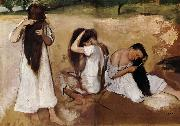 Edgar Degas Girls comb the hair oil painting picture wholesale