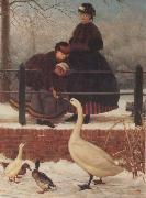 George Leslie Frozen Out oil painting picture wholesale