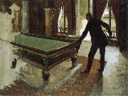 Gustave Caillebotte Pool table oil painting picture wholesale
