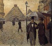 Gustave Caillebotte Study of the raining at Paris street oil painting picture wholesale
