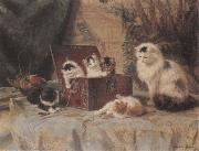 Henriette Ronner At Play oil painting picture wholesale