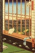 Hiroshige, Ando Cat at Window oil painting picture wholesale