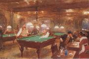 Jean Beraud The Billiard Parlour oil painting picture wholesale