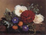 Jensen Johan Crimson Dahlia oil painting picture wholesale