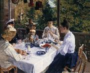 Konstantin Korovin Have tea oil painting picture wholesale