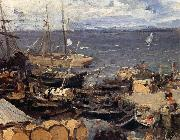 Konstantin Korovin Port oil painting picture wholesale