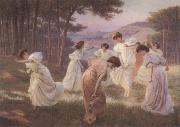 Leopold Kowalsky A Meadow Frolic oil painting picture wholesale