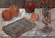 Paul Signac The still life having book and oranges oil painting picture wholesale