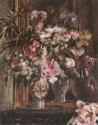 Pierre-Auguste Renoir Peonies,Lilacs ad Tulips oil painting picture wholesale