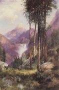 Thomas Moran Yosemite Valley,Vernal Falls oil painting reproduction