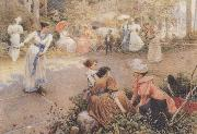 Tito Agujari Ladies-Volley oil painting picture wholesale