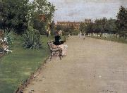 William Merritt Chase The view of park oil painting picture wholesale