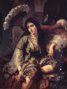 Ange Tissier Algerian Woman and her slave oil painting artist