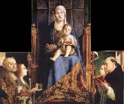 Antonello da Messina Madonna with SS Nicholas of Bari,Anastasia oil