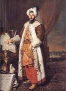 Aved, Jacques-Andre-Joseph Portrait of the Pasha Mehmed Said,Bey of Rovurelia,Ambassador of Sultan Mahmud i at Versailles oil