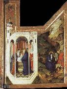 BROEDERLAM, Melchior Annunciation and Visitation oil painting artist