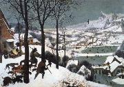 BRUEGEL, Pieter the Elder Hunters in the Snow oil painting picture wholesale