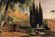 Carl Blechen Park Terrace at Villa d-Este oil painting picture wholesale