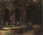 Carl Blechen Grotto in the Park at the Villa d-Este in Rome oil painting picture wholesale